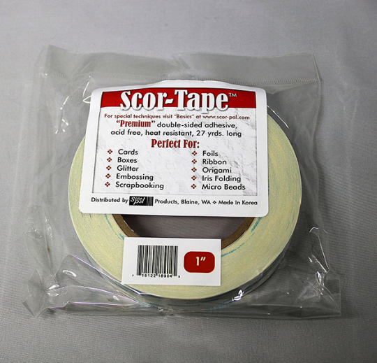 """Scor-tape 1"""" - Double Sided Tape - 1 inch"""