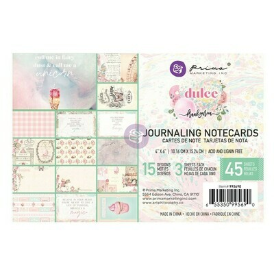 Dulce 4x6 Journaling Cards - Prima