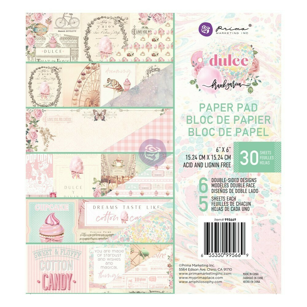 Dulce 6x6 Paper Pad - Prima Marketing