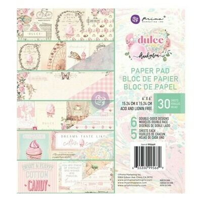 Dulce 6x6 Paper Pad - Prima Marketing