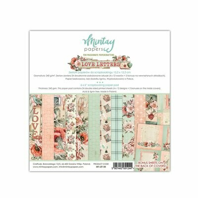 Mintay by Karola - Love Letters - 6 x 6 Collection Pack