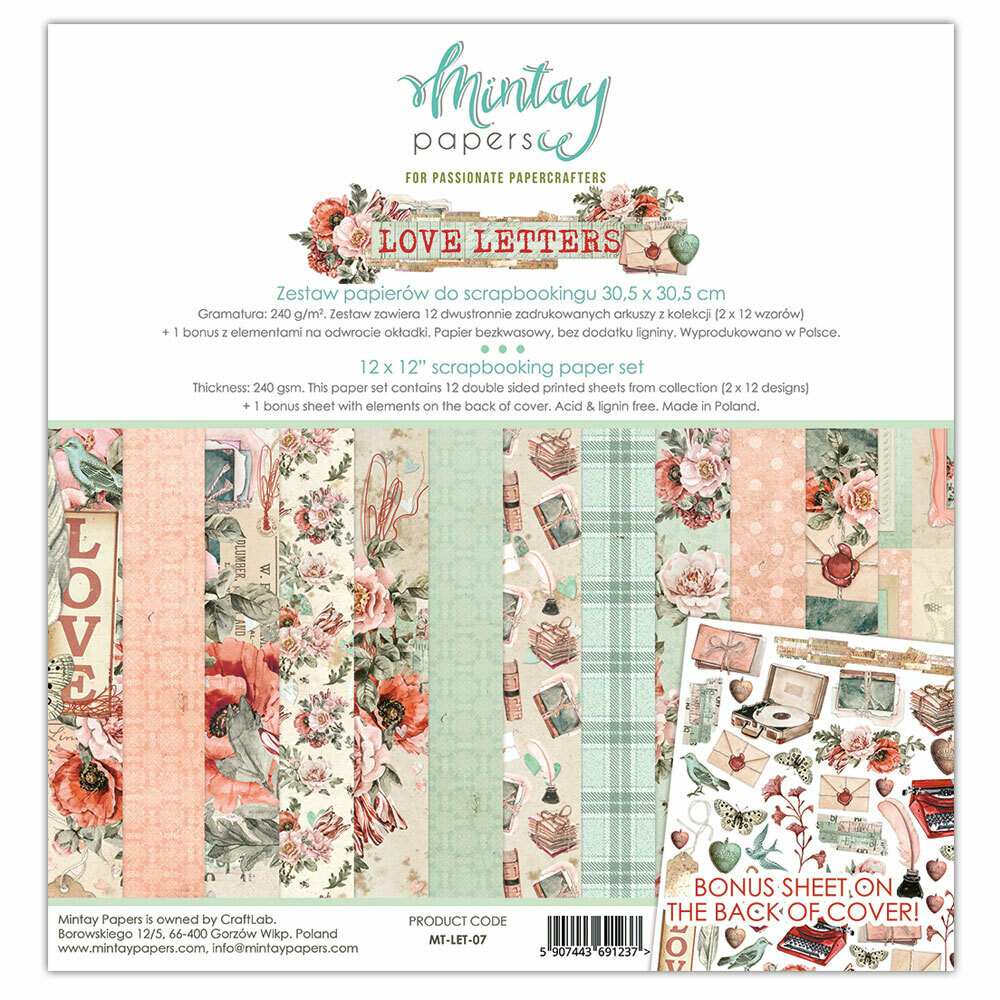 Mintay by Karola - Love Letters - 12 x 12 Collection Pack