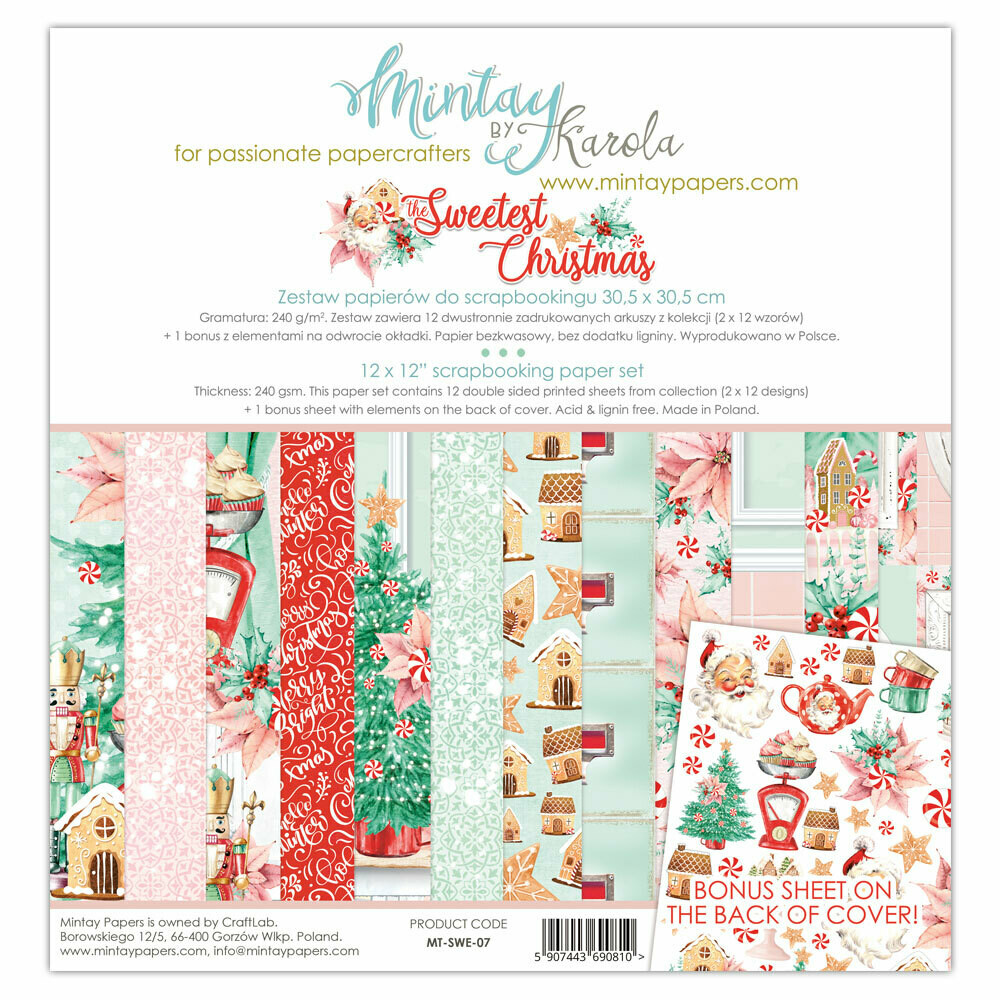 Mintay by Karola - Sweetest Christmas - 12 x 12 Collection Pack