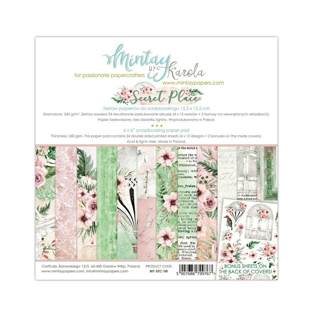 Mintay by Karola - Secret Place - 6 x 6 Collection Pack
