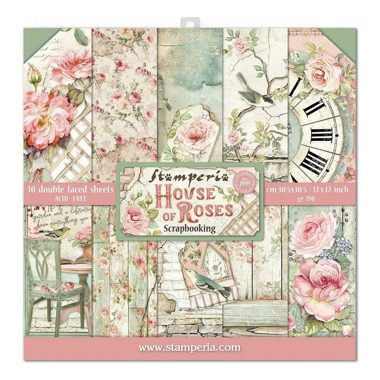 Stamperia House of Roses - 12 x 12 Paper Pad