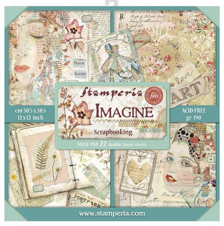 Stamperia XL Imagine - 12 x 12 Paper Pad