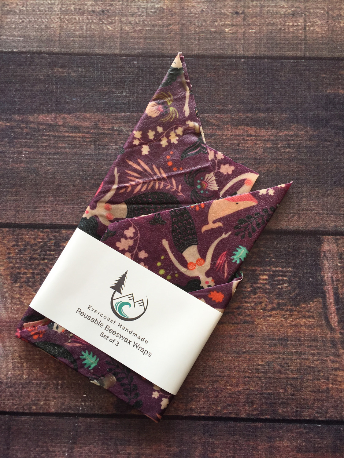 Beeswax Food Wrap - Classic Set of 3