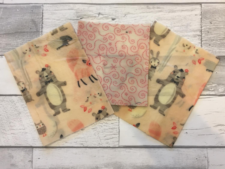 Beeswax Food Wrap - Set of 3 Scrap Minis
