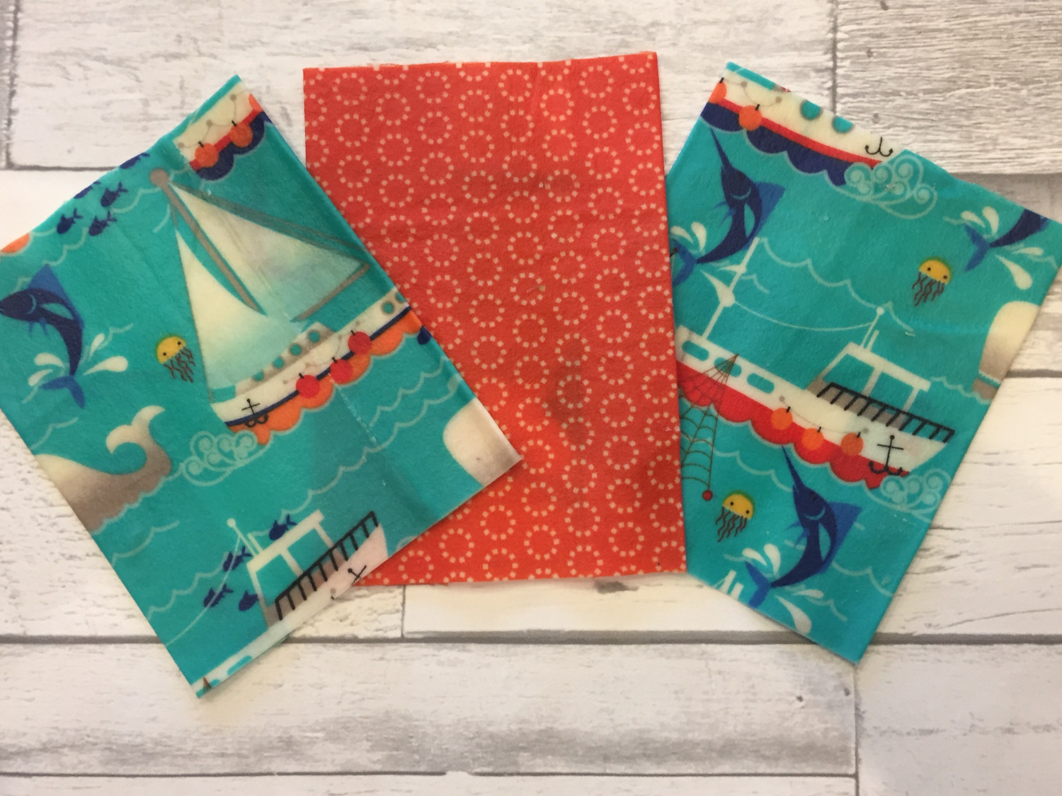 Beeswax Food Wrap - Set of 3 Scrap Minis