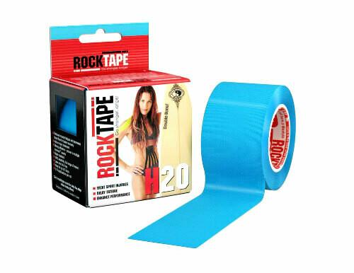 RockTape H2O, 5см х 5м, голубой