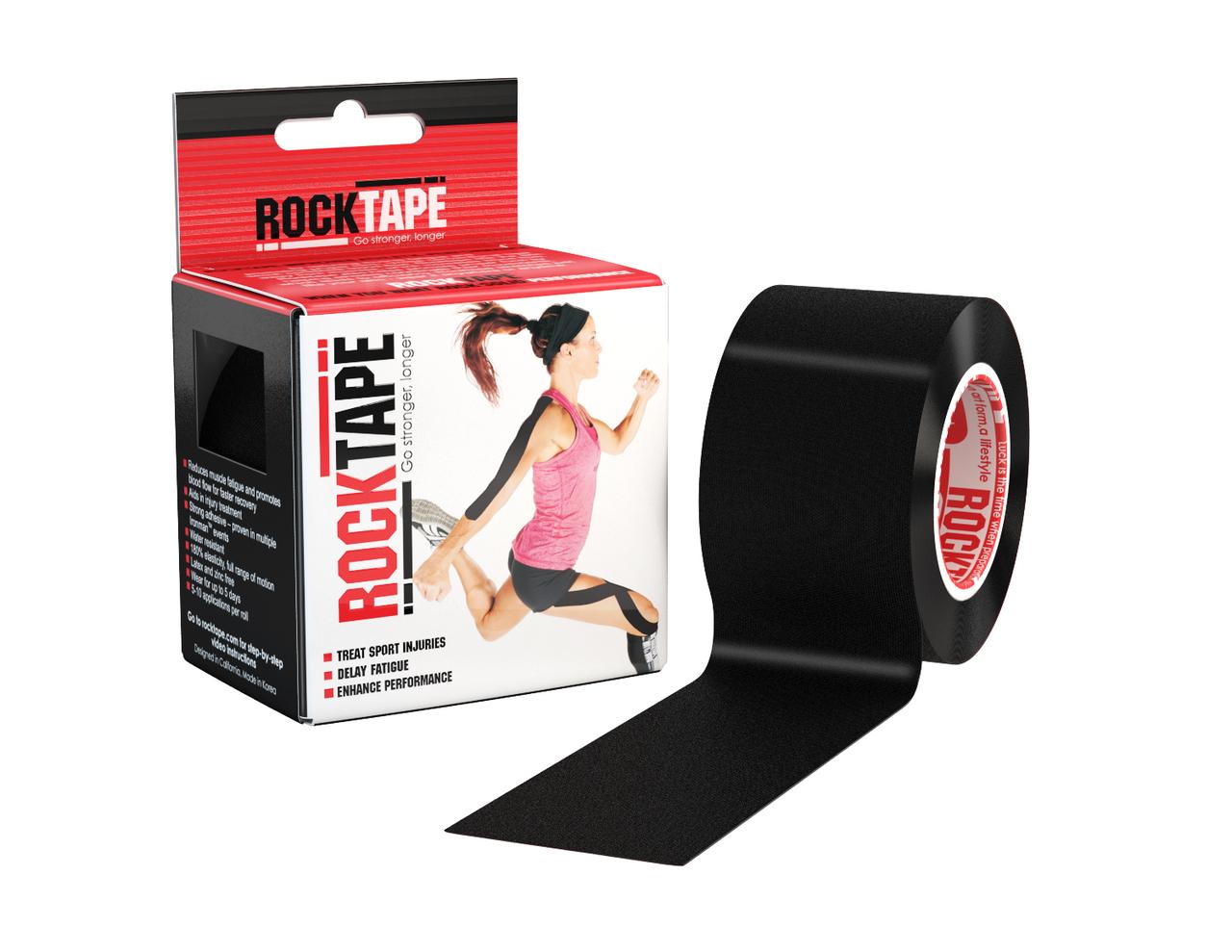 RockTape, 5см x 5м, черный RCT100-BK-OS