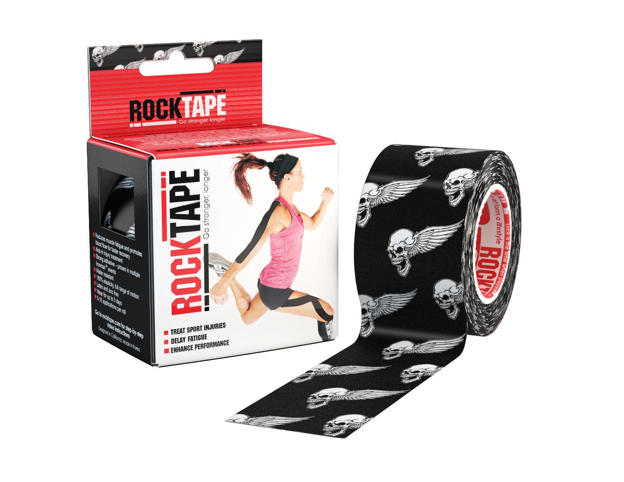RockTape, 5см х 5м, Black Skull RCT100-SKU-OS
