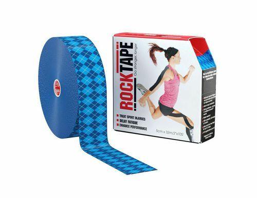 RockTape, 5см x 32м, синий узор RCT100-BLARG-LG