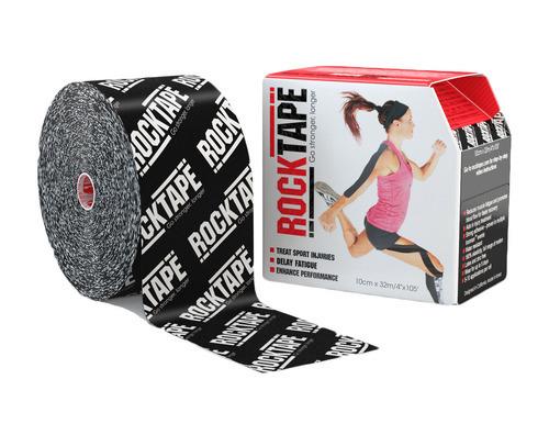 RockTape, 10см x 32м, черный логотип