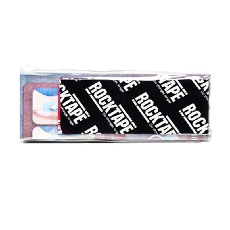 RockTape, Power Strip, 5см х 50см, черный лого RCT100-BKLG-SP