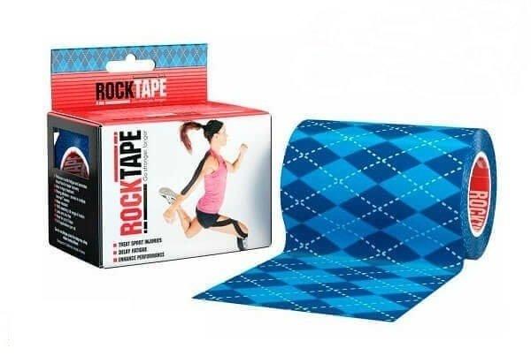 RockTape, 10см x 5м, синий узор RCT100-ARG-MBD