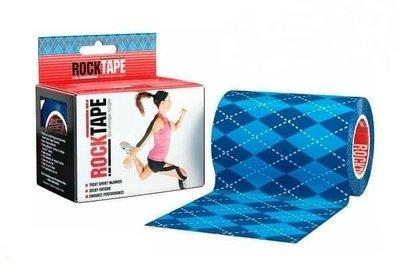 RockTape, 10см x 5м, синий узор