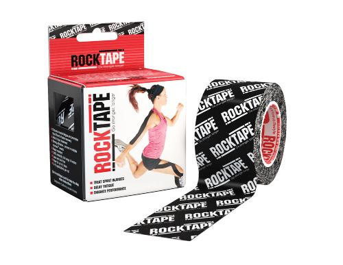 RockTape, 5см х 5м, черный лого RCT100-BKLOGO-OS