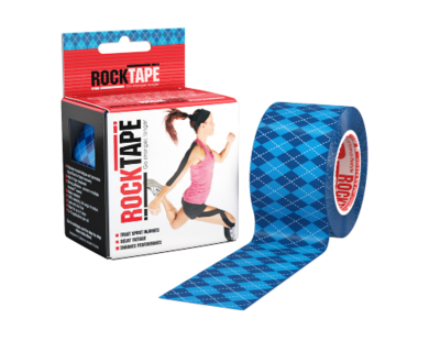 RockTape, 5см х 5м, Blue Argyle