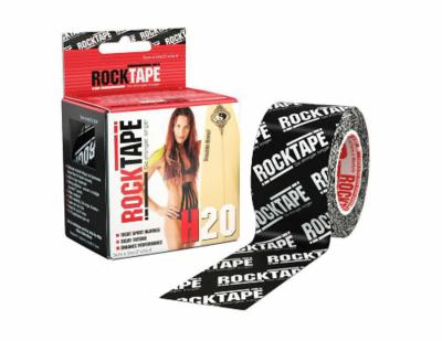 RockTape H2O, 5см х 5м, черный логотип