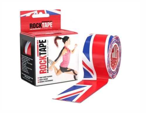 RockTape, H2O, 5см х 5м, британский флаг