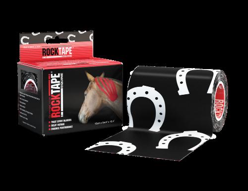 RockTape, Equine, 10см x 5м, подкова (для лошадей) RCT100R-HS-EQMB