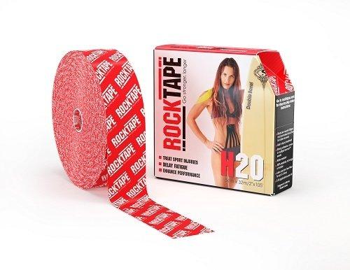 RockTape H2O, 5см x 32м, красный логотип