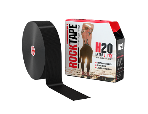 RockTape H2O, 5см x 32м, черный
