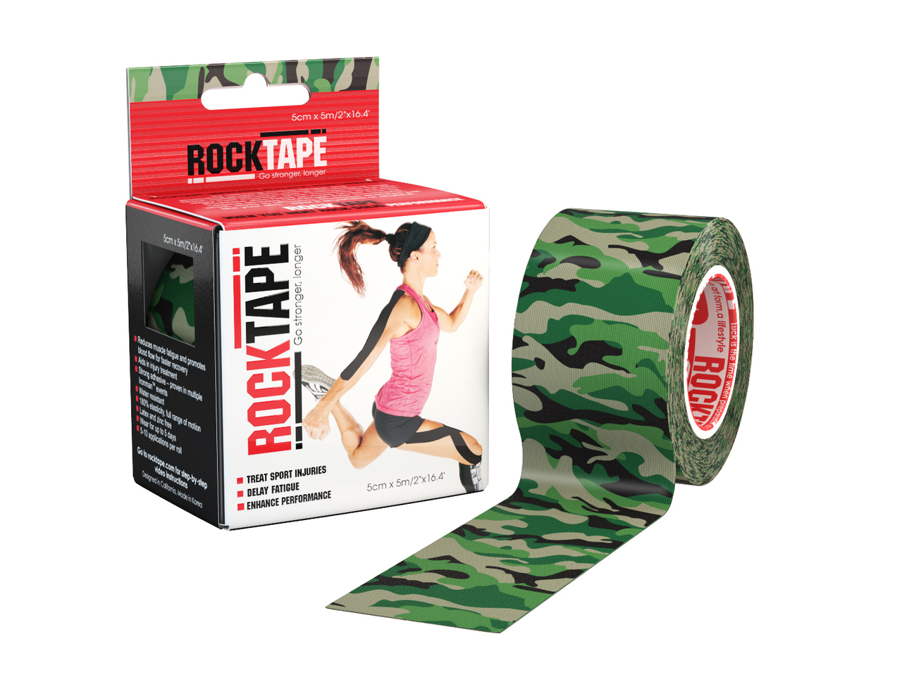 RockTape, 5см х 5м, Green Camouflage RCT100-GRCAMO