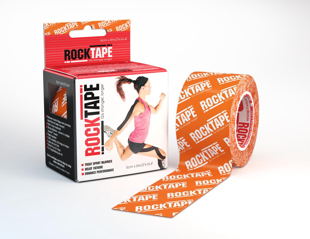 RockTape, 5см х 5м, оранжевый лого RCT100-ORLG-OS