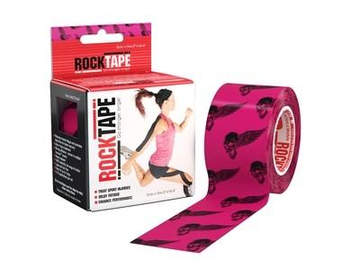 RockTape, 5см х 5м, Pink Skull