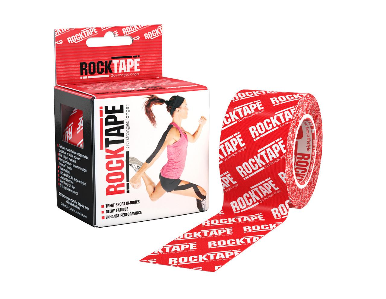 RockTape, 5см х 5м, красный лого