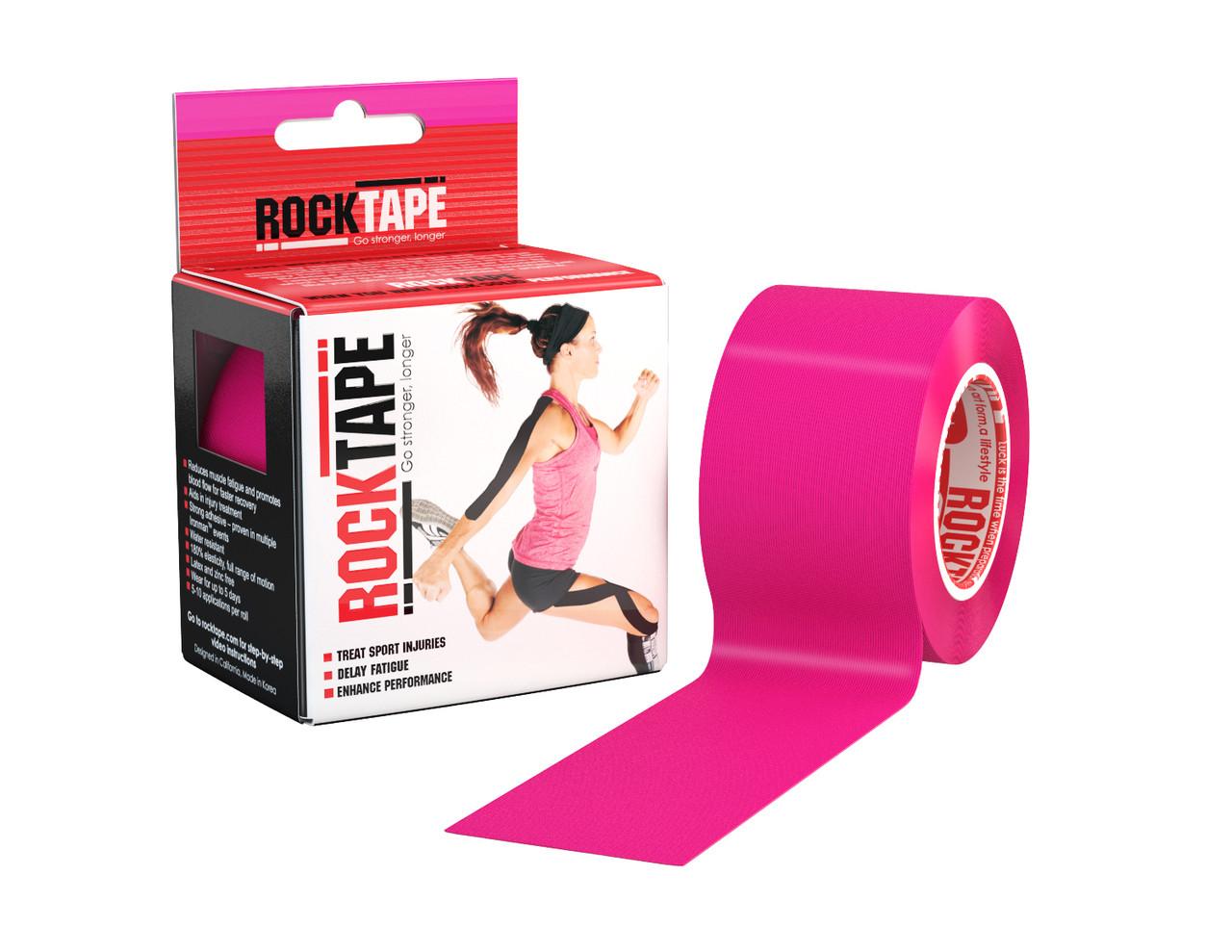 RockTape, 5см х 5м, розовый
