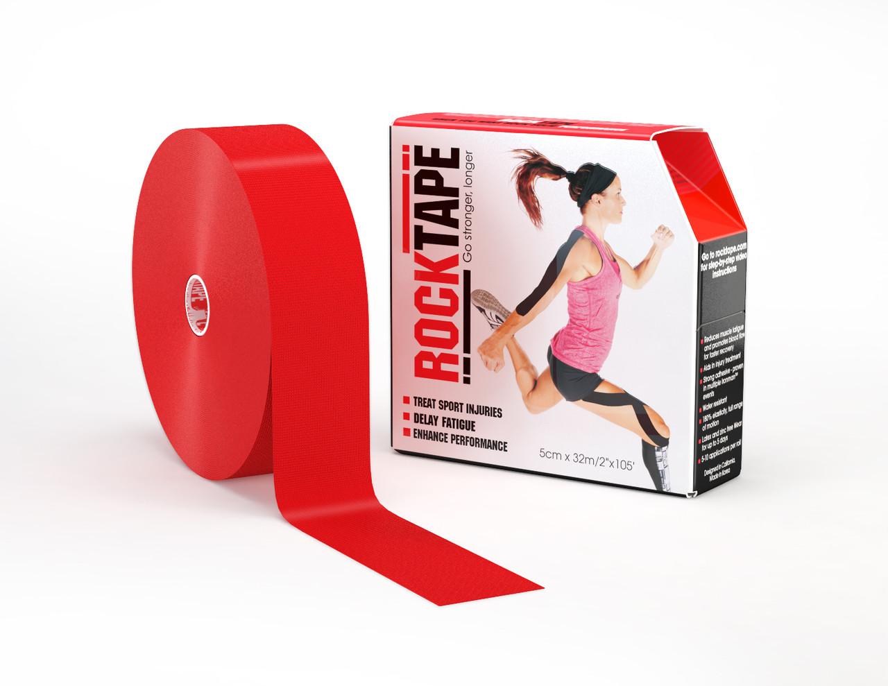 RockTape, 5см x 32м, красный