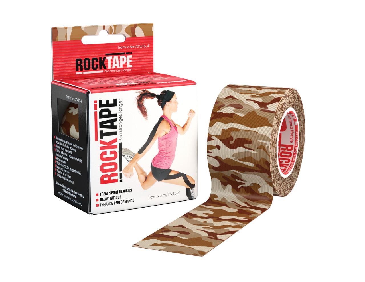 RockTape, 5см х 5м, Brown Camouflage