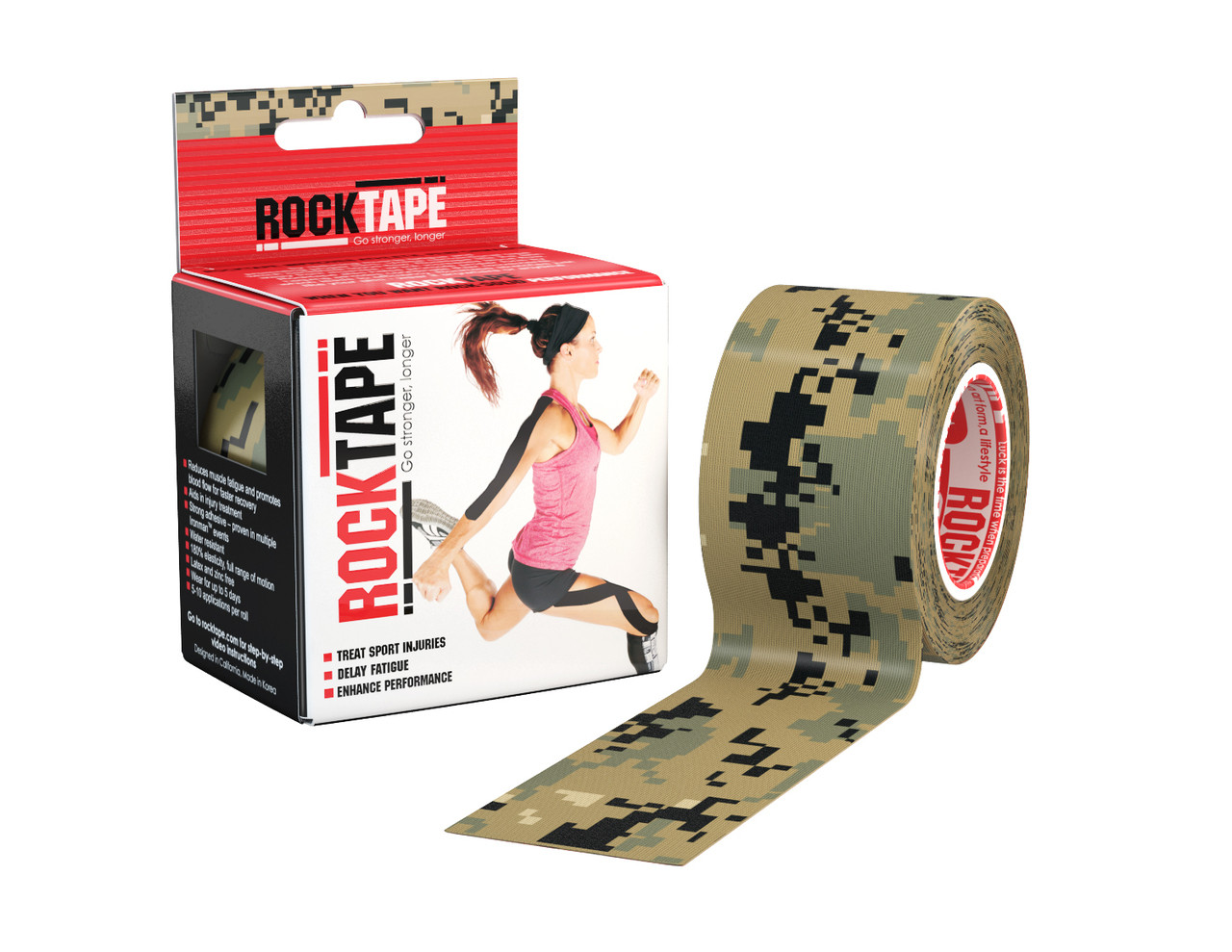 RockTape, 5см х 5м, Digital Camouflage