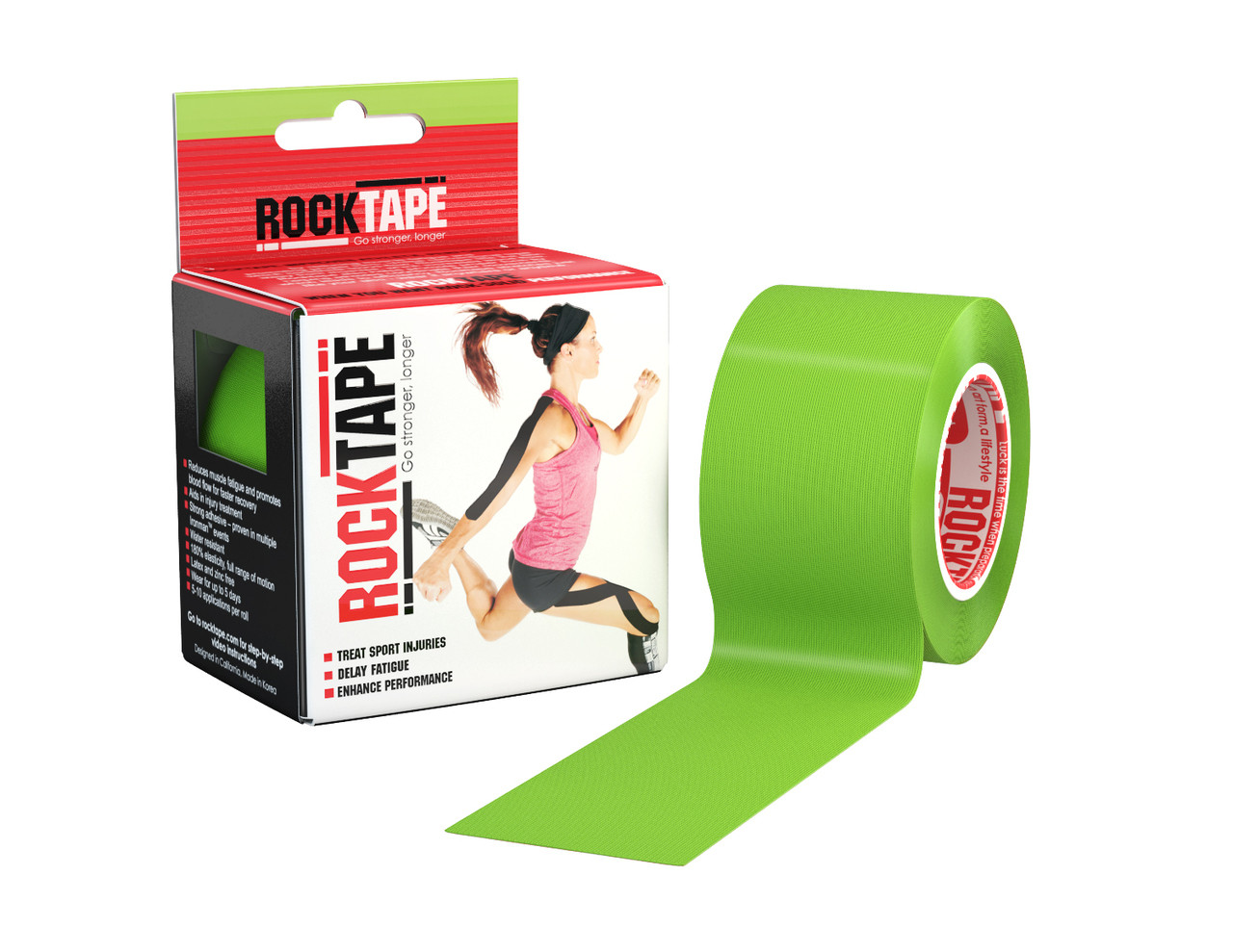 RockTape, 5см х 5м, лайм зеленый