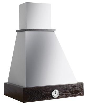 Британика 60 с часами купол нержавеющая сталь (часы серебро)