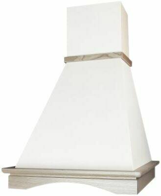 Вытяжка Elikor Вилла 60П-650-ПЗЛ, белый/неокрашенный дуб