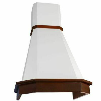 Вытяжка Elikor Камин Грань 60П-650-П3Л, бежевый/бук светло коричневый