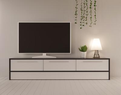 TV-консоль | Чёрным по белому
