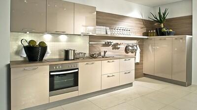 Кухня | Акрил | Lemark | Ваниль