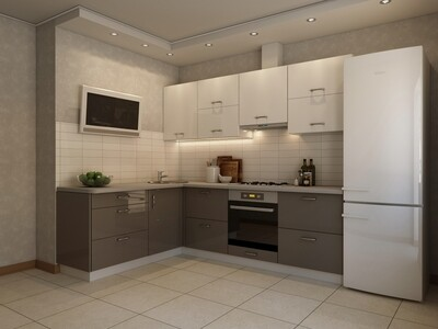 Кухня | Акрил | Lemark | Ваниль Темный беж
