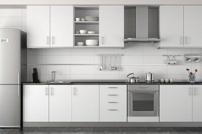 Кухня | Пластик | Melatone | Белый мат