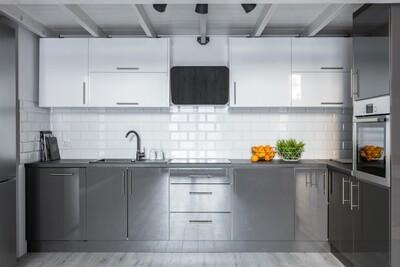 Кухня | Пластик | Arpa | Серый Белый