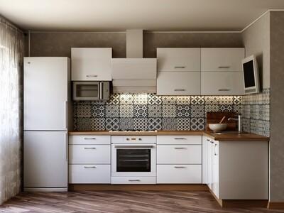 Кухня | Пластик | Lemark | Белый мат