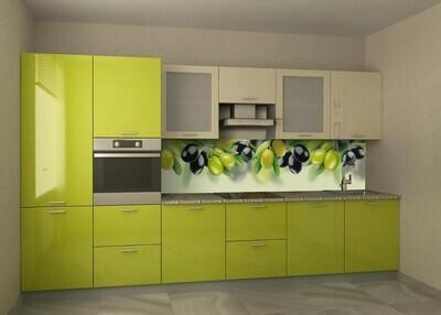 Кухня | Пленка | Глянец | Яблочный беж