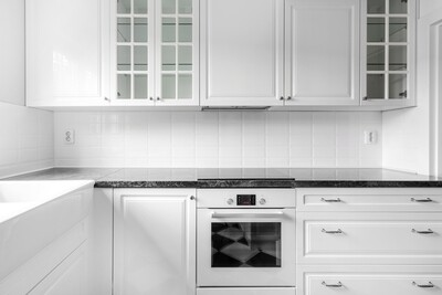 Кухня | Пленка | Рамка | Белый мат