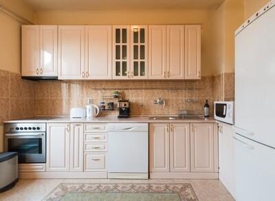 Кухня | Пленка | Рамка | Бежевый глянец