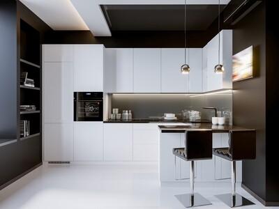 Кухня | Пластик | Arpa | Белый мат